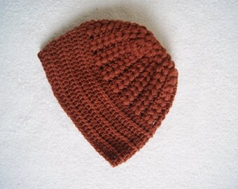 Adult Rust Beanie-Ready to ship