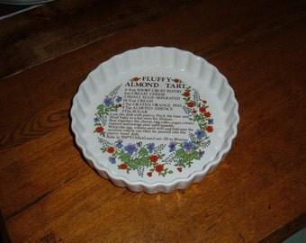 Pretty Tart or Quiche Dish by Irish Collectibles