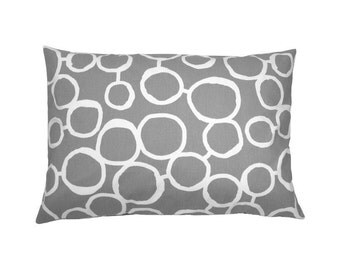 Pillow circles FREEHAND 30 x 50 cm grey white