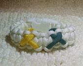 Custom Multiple Two Three or Four Ribbon Awareness Paracord Bracelet