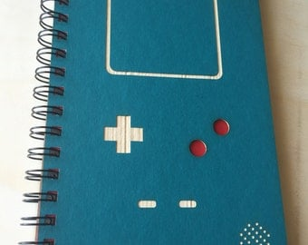 Video Game Laser Cut Notebook Journal (Blue)