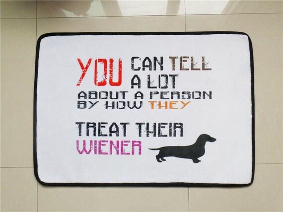 Monogrammed Weiner Dog Door Matpersonalized Door Mats Area