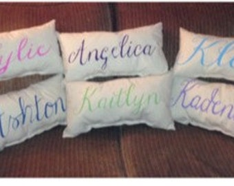 Personalized Filled Lumbar Pillows. Christmas Special. See description!