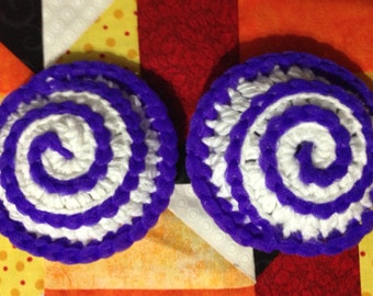 Set of 2 purple crocheted dish scrubbies