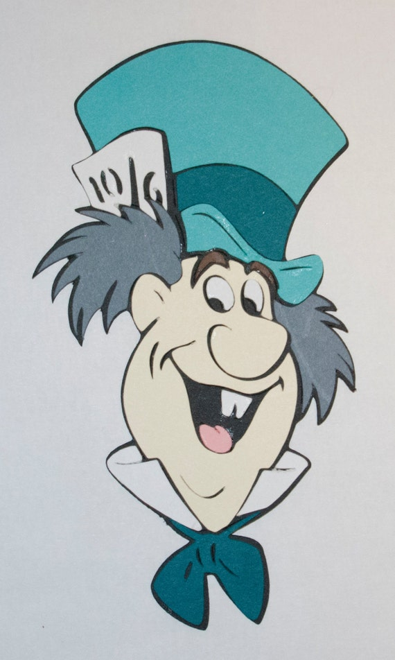 Close Up Characters Cartoon 01 : Mad hatter close up die cut alice in wonderland disney