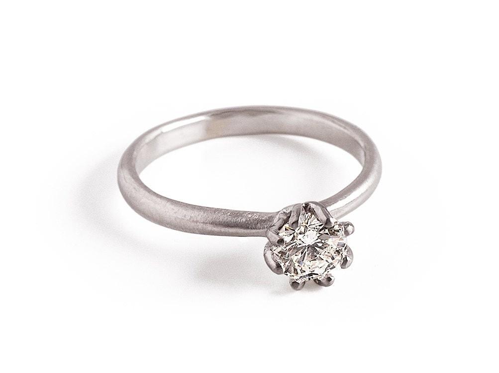 Half Carat Diamond Engagement Ring Round Diamond Ring