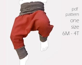 Pirate Pants sewing PDF pants pattern 6 months-4T pants