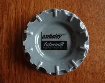 Carboly Futurmill Industrial Ceramic Ashtray, Vintage Ash Tray, Tobacciana,Urban Retro Decor,Smoking Accessories,Cigarettes,Cigars,Manly Men