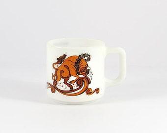 Vintage Psychedelic Taurus Astrology Mug, Beverly Coffee Mug