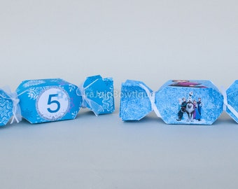 Ice Princesses Candy Gift Box Set, Includes numbers from 1 to 9