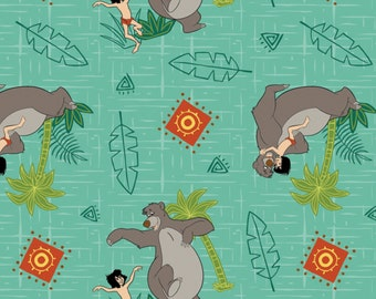 DISCONTINUED Per Yard, Disney's Jungle Book Toss Fabric From Springs Creative