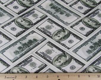 Per Yard, Strike it Rich Money Fabric From Benartex