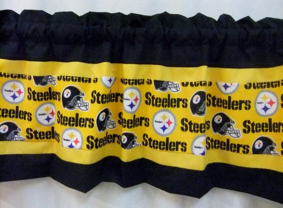Pittsburgh Steelers NFL Football Gold Print Custom Valance Curtain ...