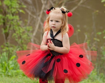 Cute Little Lady Bug Tutu Dress