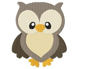 """Embroidery file """"OWL"""" - SOFORTDOWNLOAD"""