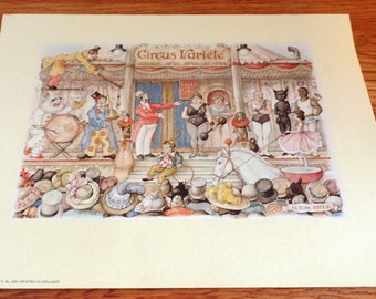 1970 circus print from Donald Art Company.