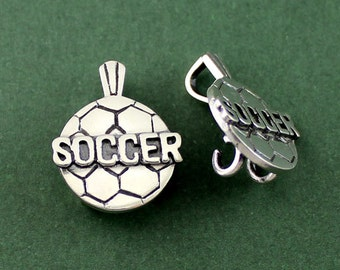 Sterling Silver Soccer Pendant, Sport Jersey Number Pendant,  Sport Number Pendant, Gift for Her, Gift for Sports Mom, Sports Pendant PEN011