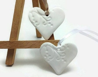 Napkin Holder, Napkin Ring, Napkin Bands, Wedding Favors Cheap, Clay Heart Ornament, Wedding Favors Bulk, Favors for Guests, Packs 10, 20