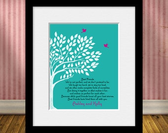 Personalized Best Friend Gift, BEST FRIEND Poem, Best Friends Wedding Gift, Maid of Honor Gift, Best Friend's Gift