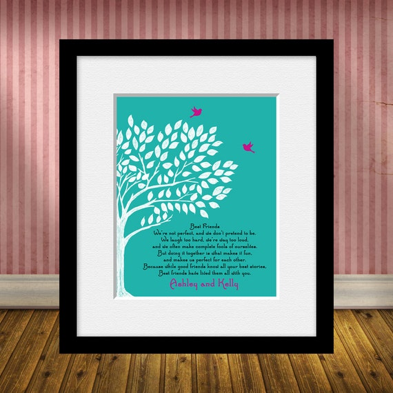 Personalized Best Friend Gift Best Friend Poem Best Friends