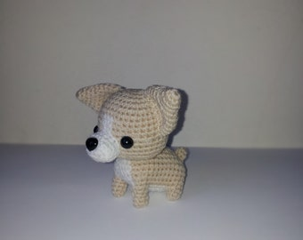 Chihuahua Crochet puppy dog, Amigurumi Dog, Doll Crochet Dog Handmade, Crochet dog, brithday gift, christmas gift.