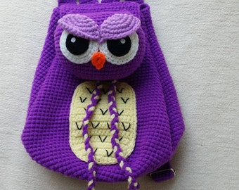 Owl Crochet Backpack birthday gift, christmas gift,baby shower perfect to  any childern.