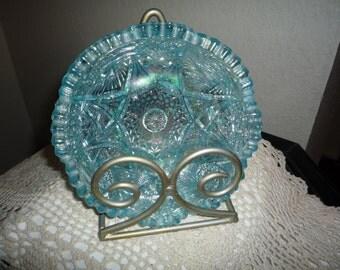 Iridescent Blue Candy Dish