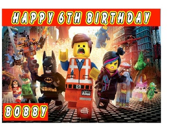 LEGO Personalised Birthday Card