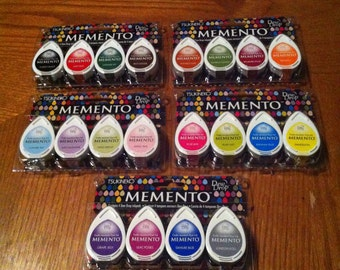 Memento Dew Drop Ink Pads - 5 Packs - 4 Colored Pads in Each Pack