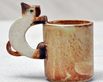 Custom Handmade Ceramic Kitty Cup