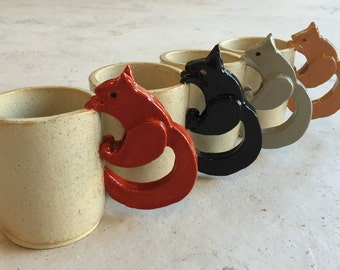Handmade Squirrel Mug