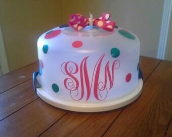 Monogrammed Custom Cake Carrier