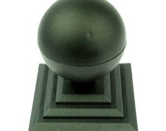 """Linic UK Made Sphere Top Fence Finial x 2 & 3"""" Fence Post Caps. (GT0026) Free UK Postage"""