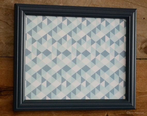 navy blue 8x10 picture frame painted upcycled wood by erinheaton. Black Bedroom Furniture Sets. Home Design Ideas