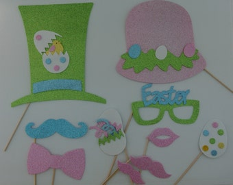 Easter Photo Booth Props   FREE SHIPPING bunnys hats easter glasses
