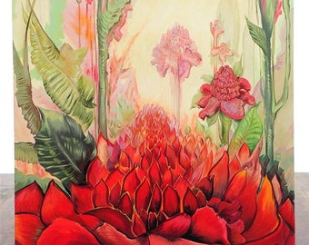 "Botaniscape of Flowers ""Fabulous"" Large Painting on Canvas by Mark Venaglia"