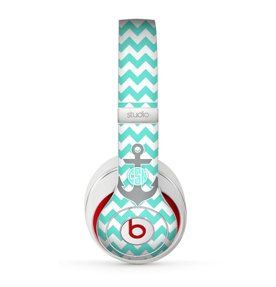 Items similar to The Teal Green and Gray Monogram Anchor ...