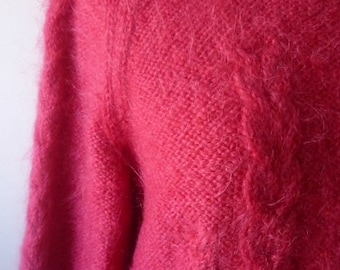Suéter Fucsia Pink Wool Vintage Jersey Mohair
