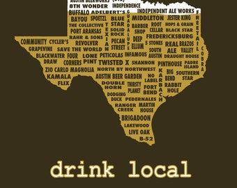 Drink Local- Texas Beer T-shirt