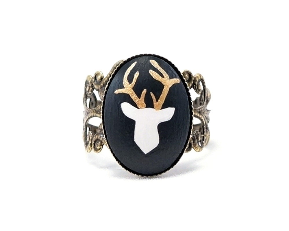 deer ring deer ring deer antler ring deer antler jewelry