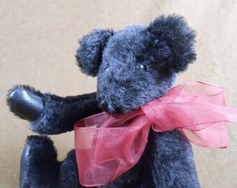 Early Artist Bear Black Mohair Teddy Bear
