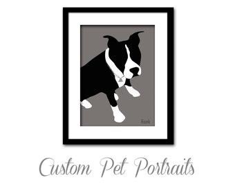 Custom Pet Silhouette - Dog Silhouette - Cat Silhouette - Custom Pet Portrait
