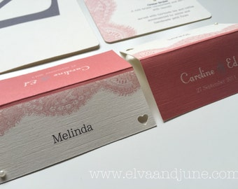 Blush and Lace Place Cards