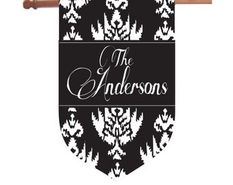 Personalized Ikat House Flag