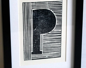 EKone Original Unframed Linoprint P