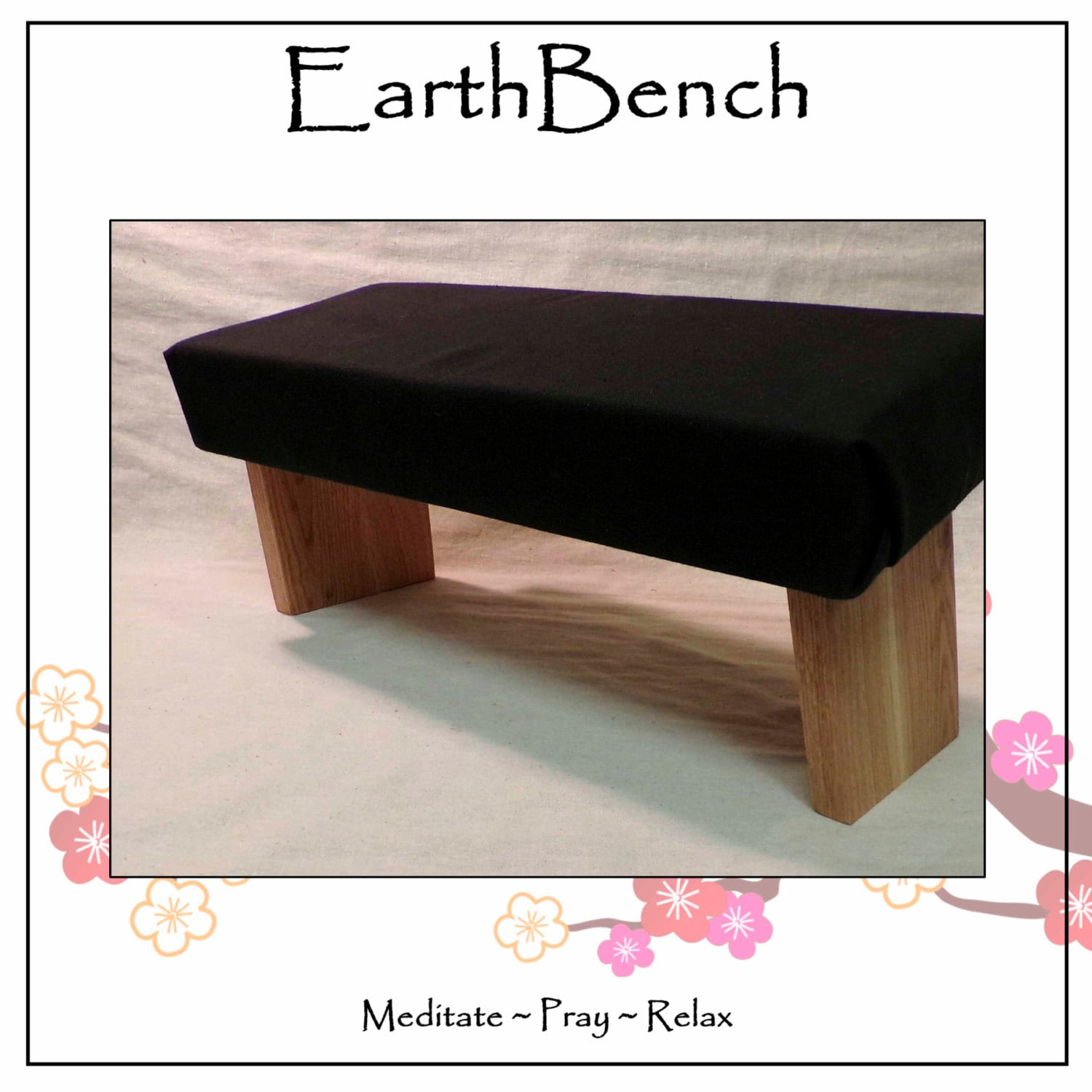 MEDITATION BENCH Padded Top With Fixed Legs By EarthBench