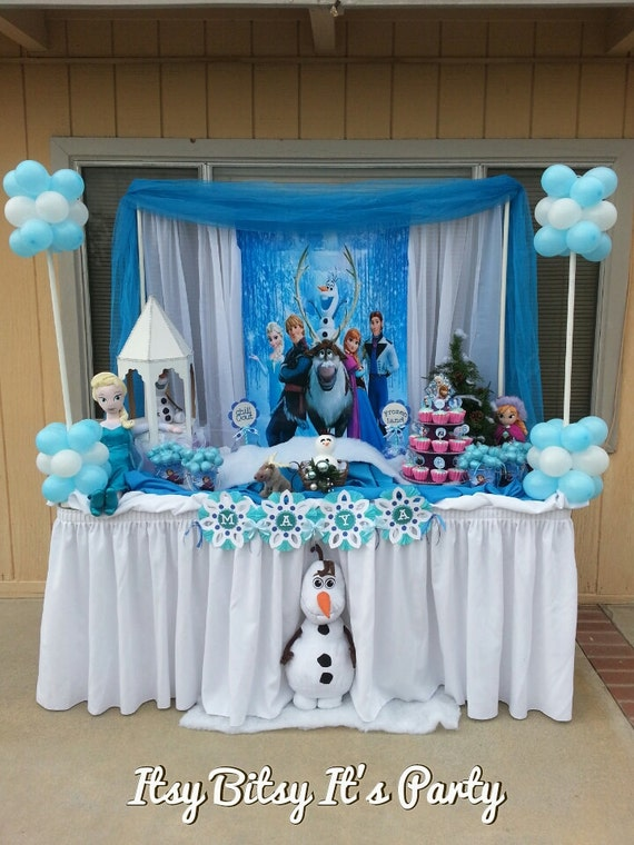 FROZEN PARTY Frozen banner frozen decoration by ...
