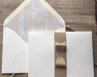 White Newsprint Lined Envelopes