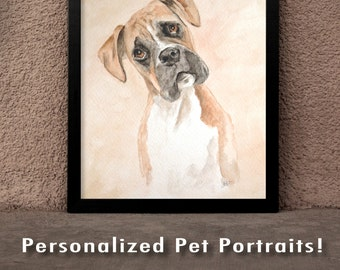 Personalized Pet Portraits! Custom Watercolor
