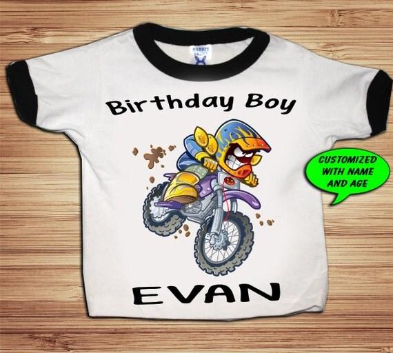 Personalized Dirt Bike Birthday Shirt - tshirt custom motorcycle atv racing bmx sports xgames
